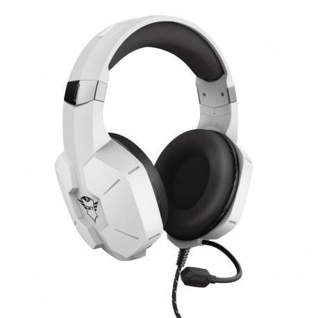 Trust GXT 323W Carus Auscultadores Gaming Fita de Cabeça Conetor 3,5 mm 1,2 m Binaural Branco - 8713439242584