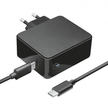 Trust 23418 Adaptador e Transformador Interior, 61 W, Carregador de Portátil, Apple, Automático, USB-C, 5, 12, 15, 20 V DC, Preto - 8713439234183