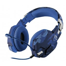 Auriculares Gaming Con Micrófono Trust Gaming Gxt 322b Carus Jack 3.5 Camuflaje Azul - 8713439232493