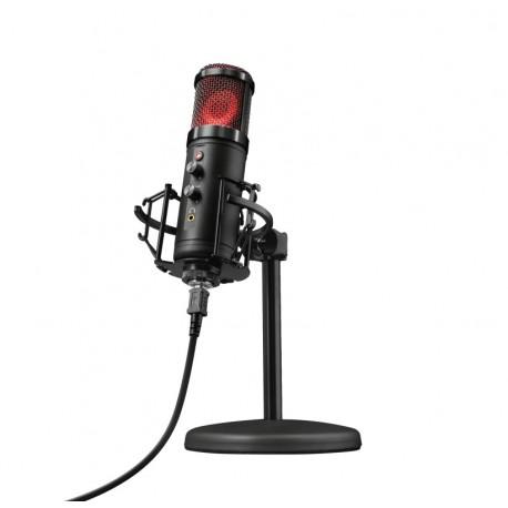 Trust 23510 GXT 256 Exxo Microfone para PC, 130 dB, 30 - 18000 Hz, 32 Ω, 16 bit, 48 kHz, Preto - 8713439235104
