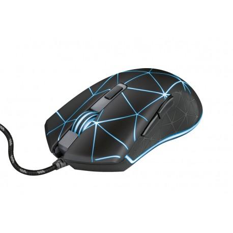 Trust 22988 GXT 133 Locx Rato Gaming, Mão Direita, USB Type-A, Ótico, 4000 DPI, Preto - 8713439229882