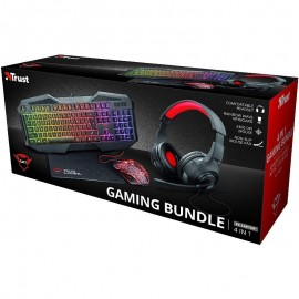 Trust Gaming GXT 1180RW, Pack Gaming 4 em 1 inclui Teclado GXT 830-RW, Rato GXT 105, Tapete, Auriculares - 8713439231489