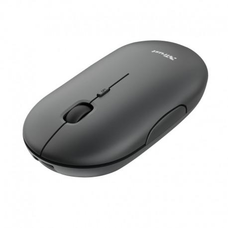 Trust 24059 Puck Rato Ambidestro, RF Wireless, Bluetooth, Ótico, 1600 DPI, Preto - 8713439240597