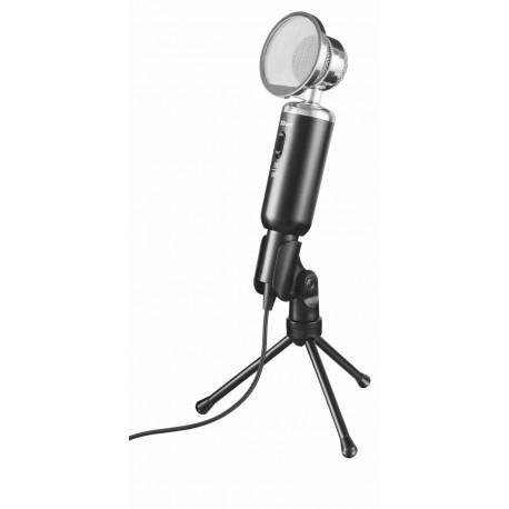 "Trust 21672 Microfone, Microfone para PC, 50 - 16000 Hz, 2,2 Ω, Omnidirecional, Com Fios, 3.5 mm (1/8""), Preto - 8713439216721"