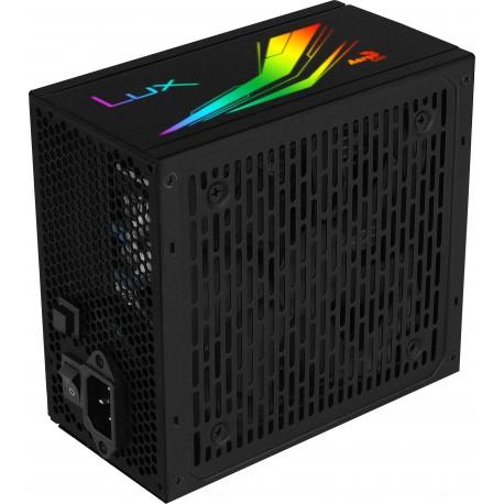 Aerocool LUX RGB 850M Fonte de Alimentação 850 W 20+4 pin ATX, Ventilador 12 cm, 80 Plus, Bronze, Preto - 4710562759419