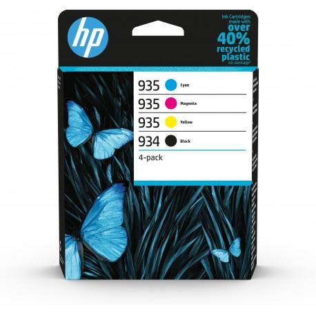 HP Conjunto de 4 Tinteiros Originais 934 Preto e 935 Ciano/Magenta/Amarelo, Cartucho de Tinta, Pacote Combinado - 0195122352257