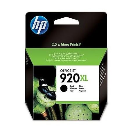HP Tinteiro Original 920XL Black Preto de Elevado Rendimento, Alta Capacidade, Rendimento Alto (XL), Cartucho de Tinta - 0884420649496