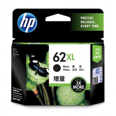 HP Tinteiro Original 62XL Preto de Elevado Rendimento, Alta Capacidade, Rendimento Alto (XL), Cartucho de Tinta - 0888182461952