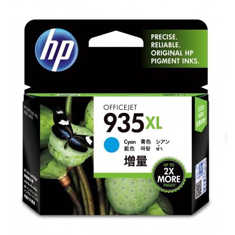 HP Tinteiro Original 935XL Ciano de Elevado Rendimento, Alta Capacidade, Rendimento Alto (XL), Cartucho de Tinta - 0888182031704
