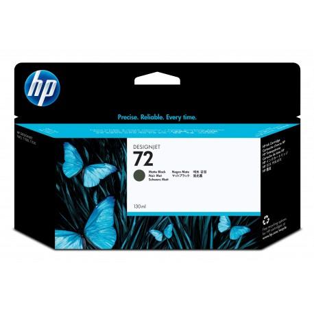 HP Tinteiro DesignJet 72 Original Preto Mate de 130 ml, Alta Capacidade, Rendimento Alto (XL), Cartucho de Tinta - 0808736779746