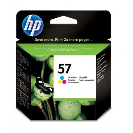 HP Tinteiro Original 57 Tricolor, Ciano, Magenta, Amarelo, Cartucho de Tinta - 0725184712241