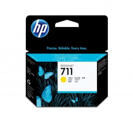 HP Tinteiro Original DesignJet 711 Amarelo de 29 ml, Cartucho de Tinta - 0886112841157