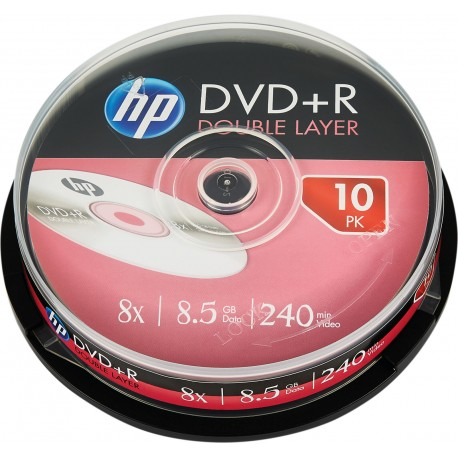 HP DRE00060-3 DVD+R 8x, 8.5 GB, 240 min, Double Layer, Torre 10 Unidade(s) - 4710212138694