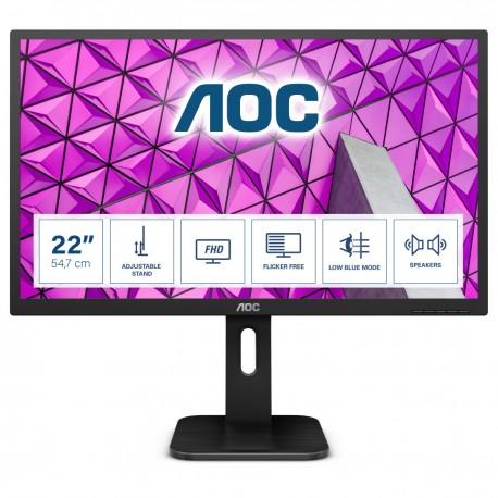"AOC P1 22P1D Monitor, LED, Full HD, 2 ms, 54,6 cm, 21.5"", Preto - 4038986126304"