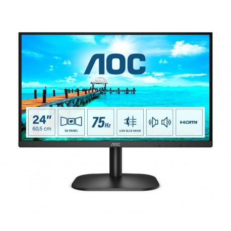 "AOC B2 24B2XDAM Monitor, 60,5 cm, 23.8"", Full HD, LED, Preto - 4038986149600"