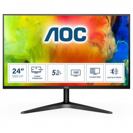 """AOC B1 24B1H Monitor, 61 cm, 24"""", Full HD, LED, Preto - 4038986146364"""