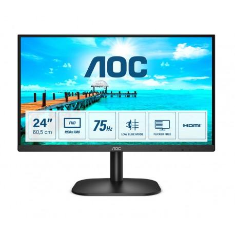 "AOC B2 24B2XHM2 Monitor, 60,5 cm, 23.8"", Full HD, LCD, Preto - 4038986149594"
