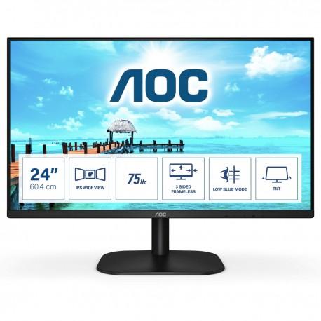"AOC B2 24B2XH/EU Monitor, 60,5 cm, 23.8"", Full HD. LED, Preto - 4038986147170"