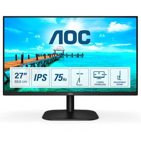 "AOC B2 27B2DA Monitor, LED, 68,6 cm (27"") 1920 x 1080 pixels Full HD Preto - 4038986188302"