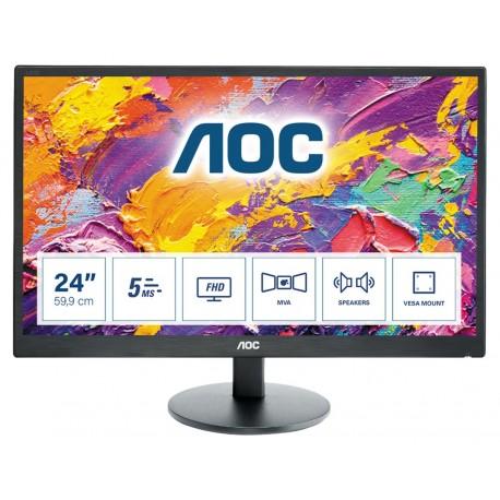 "AOC M2470SWH Monitor, Full HD, LED, 61 cm, 24"", Preto - 4038986144995"