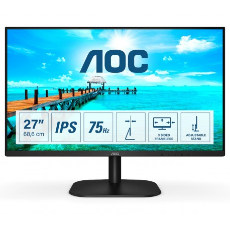 "AOC B2 27B2H/EU Monitor, LED, 68,6 cm, 27"", Full HD, Preto - 4038986187183"