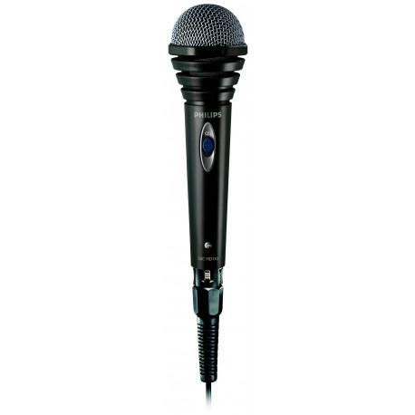 Philips SBCMD110/00 Microfone com Cabo, Microfone de Estúdio, Omnidirecional, Com Fios, Preto - 8710101675268