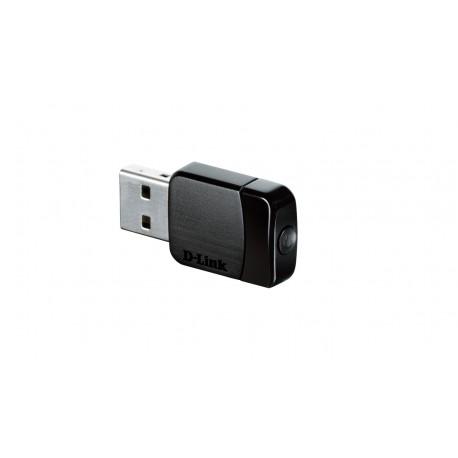 D-Link DWA-171 Cartão de Rede WLAN 433 Mbit/s, Adaptador USB, Wi-Fi 5, Sem Fios, Preto - 0790069392276