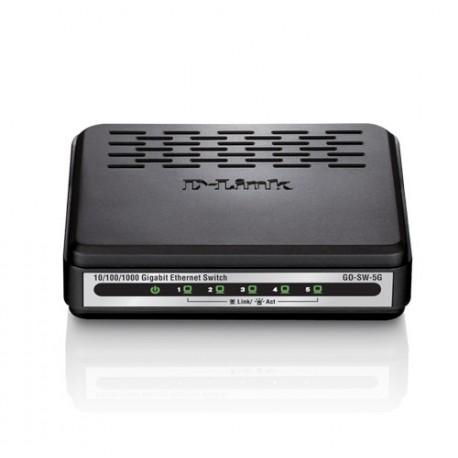 D-Link GO-SW-5G Switch de Rede Não-gerido (10,100,1000), Full Duplex, RJ45, 5 Portas, Preto, Branco - 0790069365676