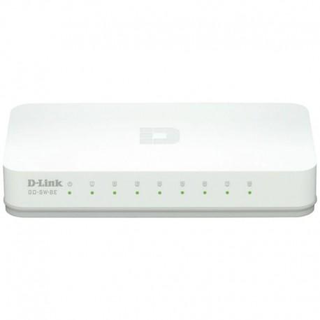 D-Link GO-SW-8E Switch de Rede Não-gerido Fast Ethernet (10/100), Full Duplex, RJ45, 8 Portas, Branco - 0790069388286
